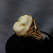 Vintage 10K Gold Cameo Ring