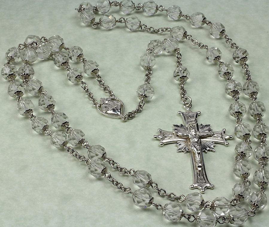Circa 1938 - Large Sterling Crystal Rosary