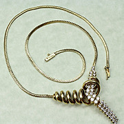 Jose Hess 18K ,  2 Carat Diamond Necklace