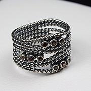 Pandora Sterling & Garnet Ring