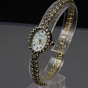 Ladies 14K Yellow Gold Bulova Diamond Wrist Watch
