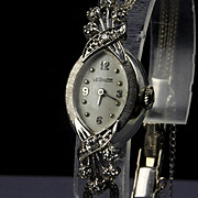 14K White Gold Ladies LeCoultre Swiss Diamond Watch