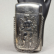 Gorham Antique Sterling Card Holder Depicting Cupid - Mardi Gras