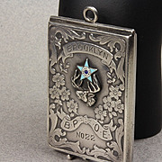 Antique 1910 Enameled Sterling - B.P.O.E. - Elks Club Membership Card Case