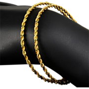 Two Matching Hand Made Pure Gold - 22K - Bracelets