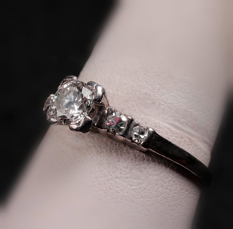 Platinum Diamond Ring with 0.60 Carats TW