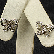 10K Butterfly Diamond Earrings