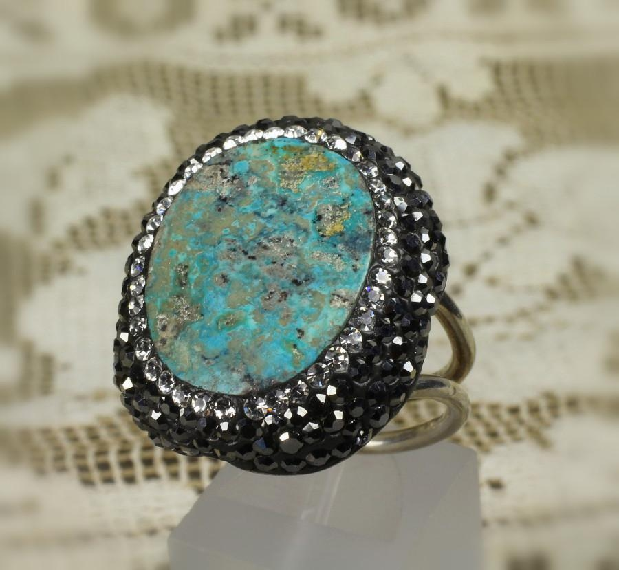 Sterling Turquoise Marcasite & CZ Ring