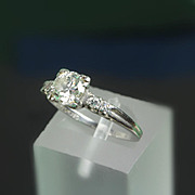 900 Platinum Diamond Ring