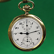 Rose / Heuer Watch Company 14K Gold Doctors Stop Pocket Watch