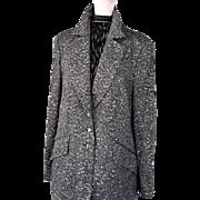 Vintage Escada Burnished Silver Sequinned Tailored Jacket, 46 (12-14)