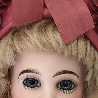 "GORGEOUS EJ E7J Jumeau Blue Eyed Antique Doll 16"""