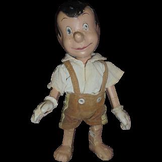 Vintage Disney Pinocchio Composition Doll in POOR Condition Original Clothes