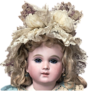 Rare and Unique Antique Doll Bonnet for Jumeau Steiner Bru