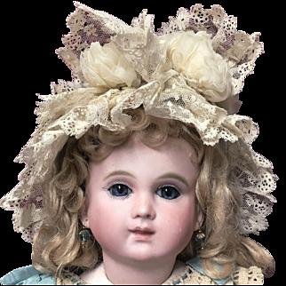 Rare and Unique Antique Doll Bonnet for Jumeau Steiner Bru