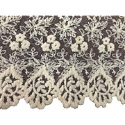 "GORGEOUS Antique/Vintage Lace 2 Yards Long 12"" Wide Great for Dolls"