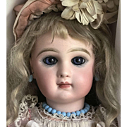 "Christmas Special** Antique 19""  Tete Jumeau Doll Size 8 ALL ORIGINAL except Wig"