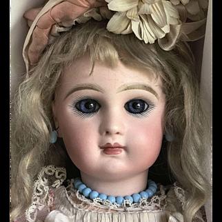 "Antique 19""  Tete Jumeau Doll Size 8 ALL ORIGINAL except Wig"
