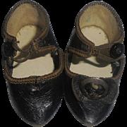 Rare Antique Bru Doll Shoes Size 5 Marked BRU Jne