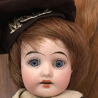 """Mystery Doll?  Sweet Little 9"""" Antique Boy"""