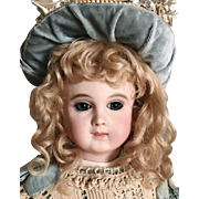 "GORGEOUS 15"" Schmitt Et Fils Blue Eyed Antique Doll Size 1"