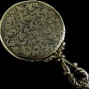 Vintage Italian 800 Silver Hand Mirror