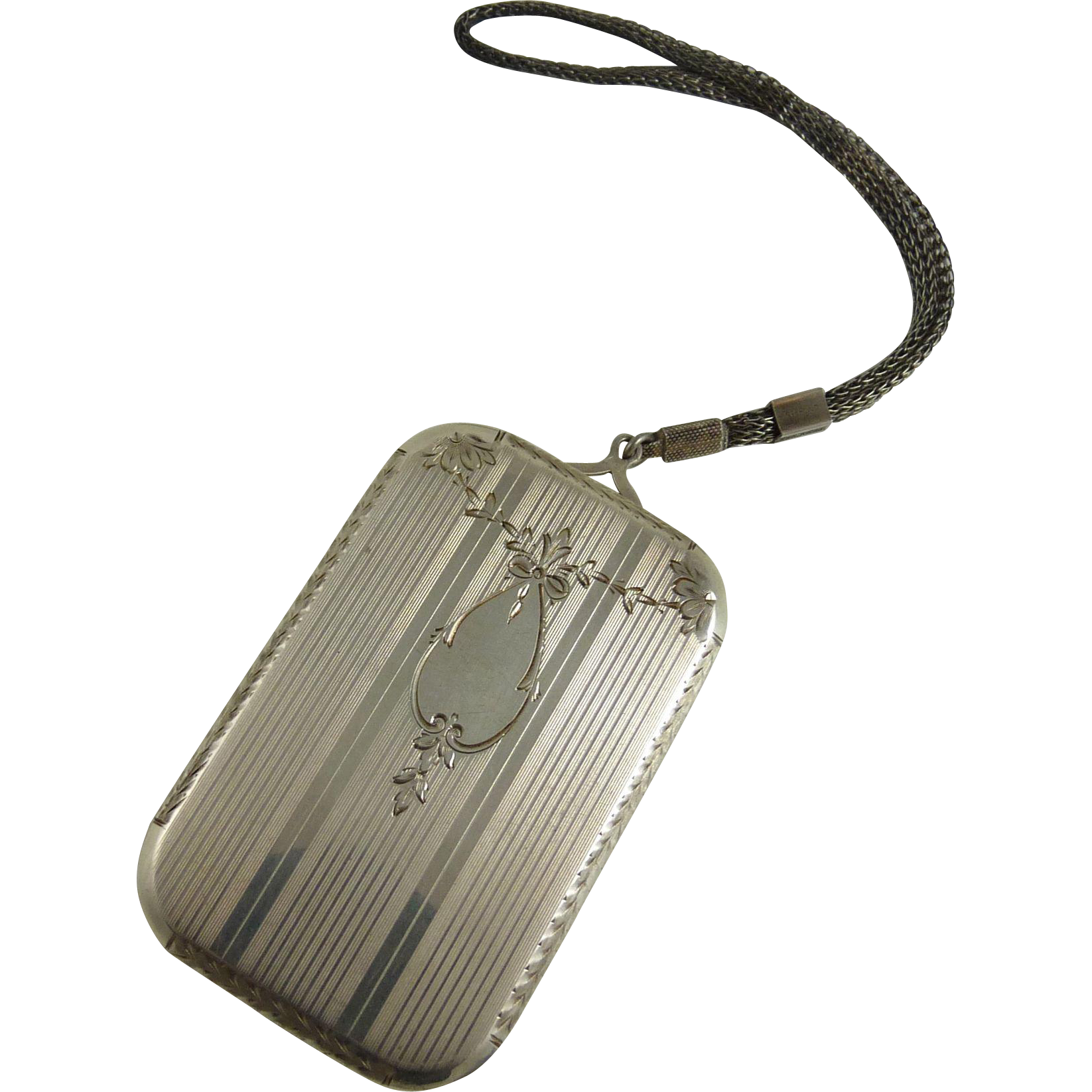 Vintage Art Deco Sterling Silver Dance Compact Wightman and Hough