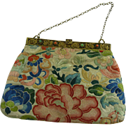 Art Deco Chinese Silk Embroidered Bag