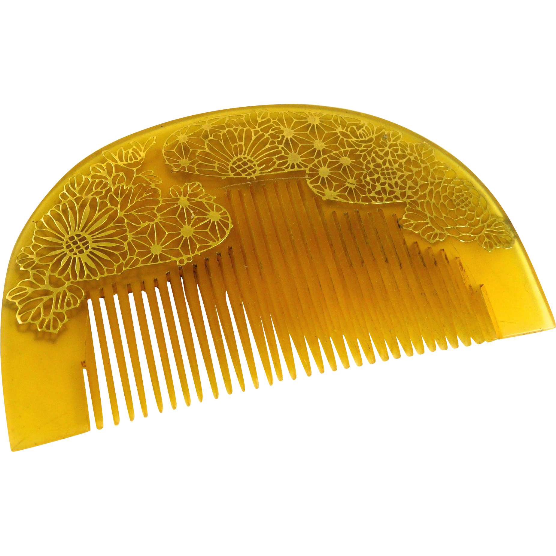 Vintage Japanese Kushi Hair Ornament Comb