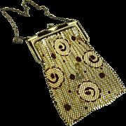 Vintage Art Deco Whiting and Davis Enamel Mesh Bag