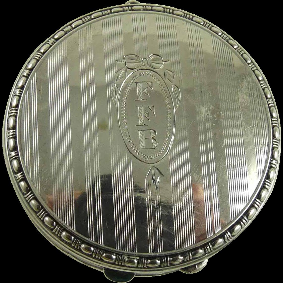 Vintage Silver Compact 14