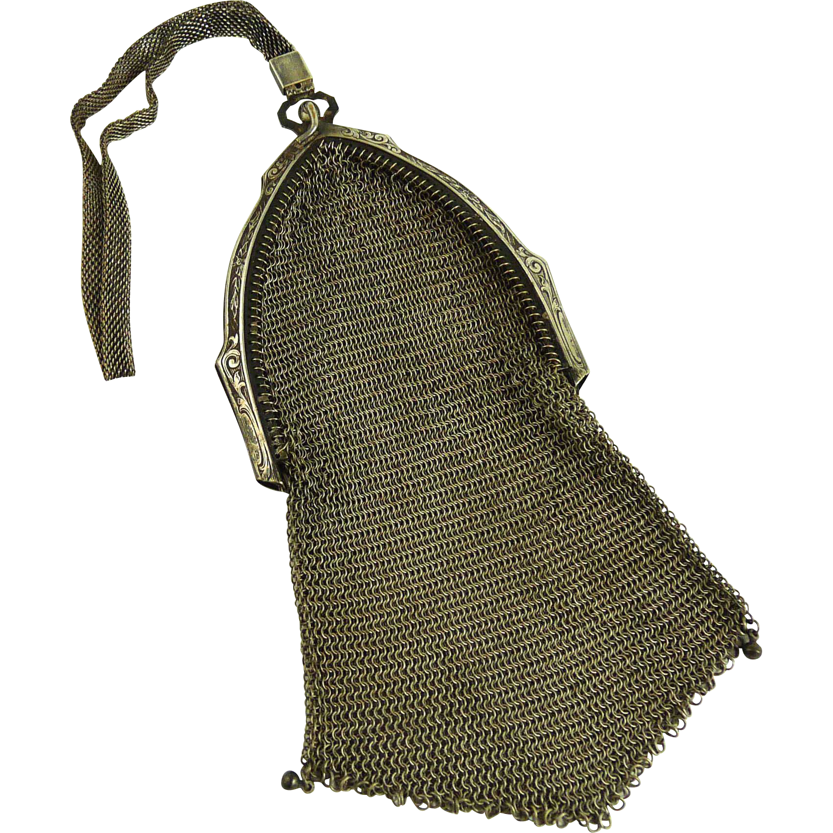 Antique Edwardian Chain Mesh Bag