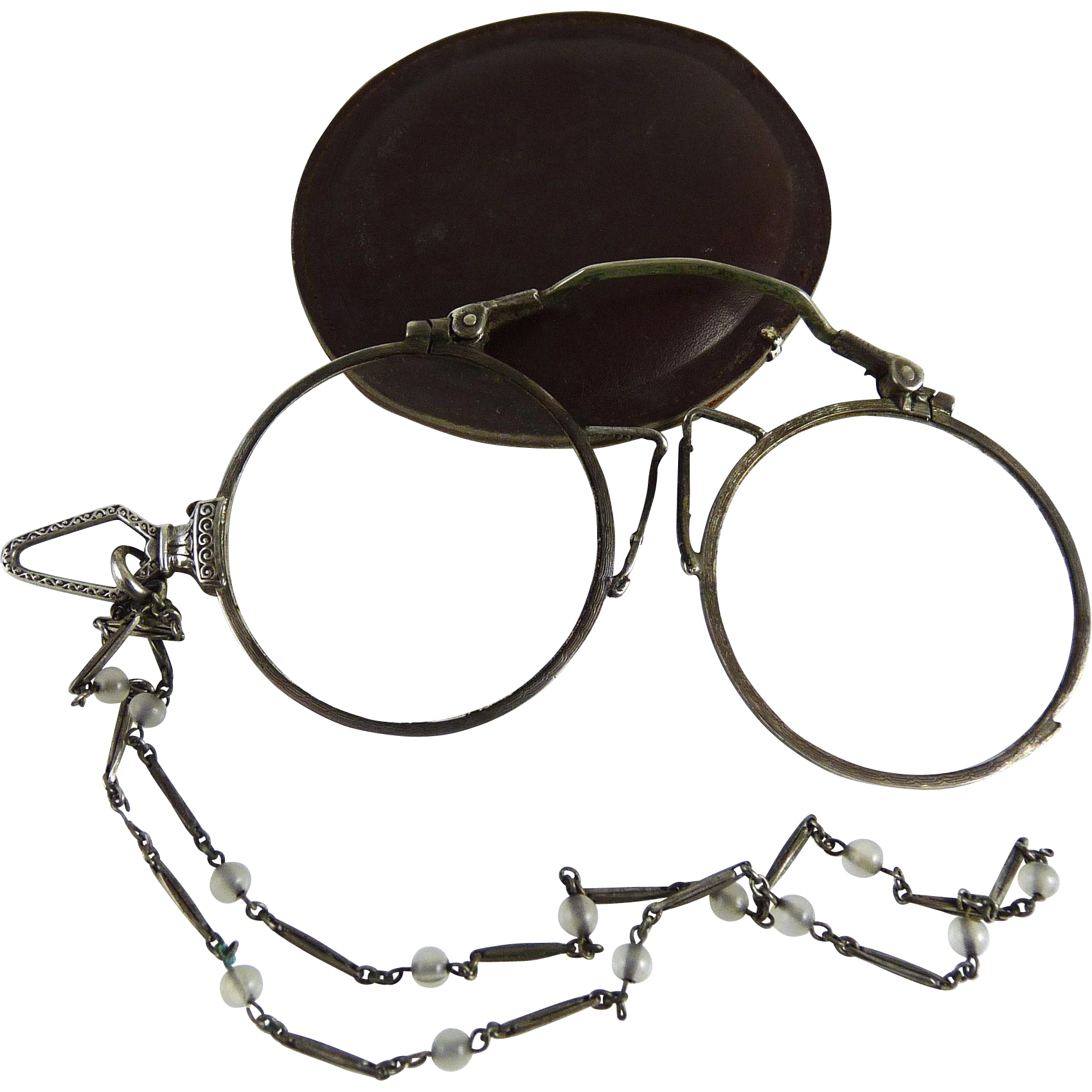 Antique Sterling Silver Pince Nez Lorgnette
