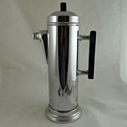 Art Deco Style Chrome and Black Bakelite Cocktail Shaker