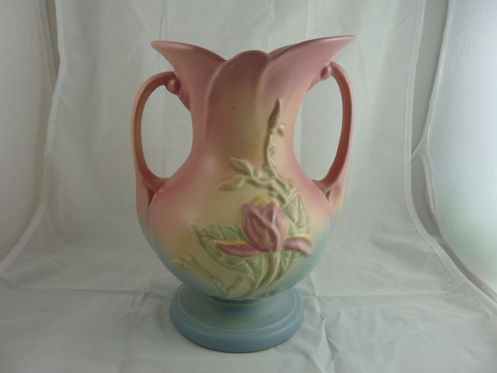 Vintage Hull Pottery Magnolia Vase From Ornaments On Ruby Lane