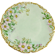 Antique Tressemann and Vogt (T&V) Limoges Plate Pink Roses