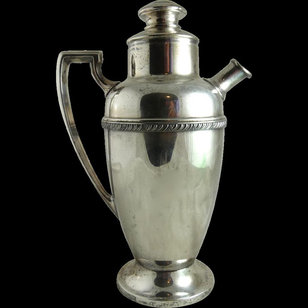 Vintage Silver Plate Cocktail Shaker