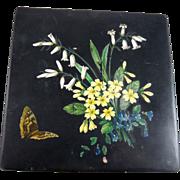 Victorian Paper Mache Handkerchief Box