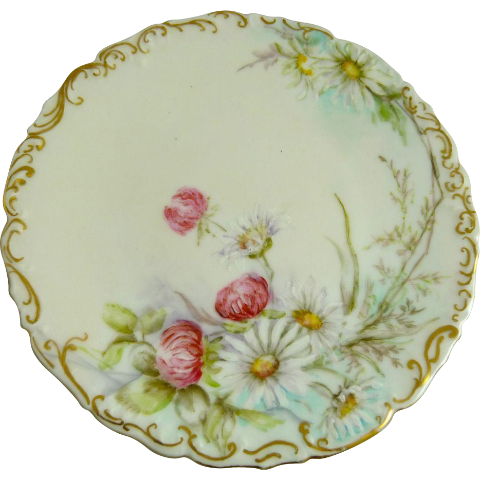 Hand Painted Signed Dated Tresseman & Vogt Porcelain Plate