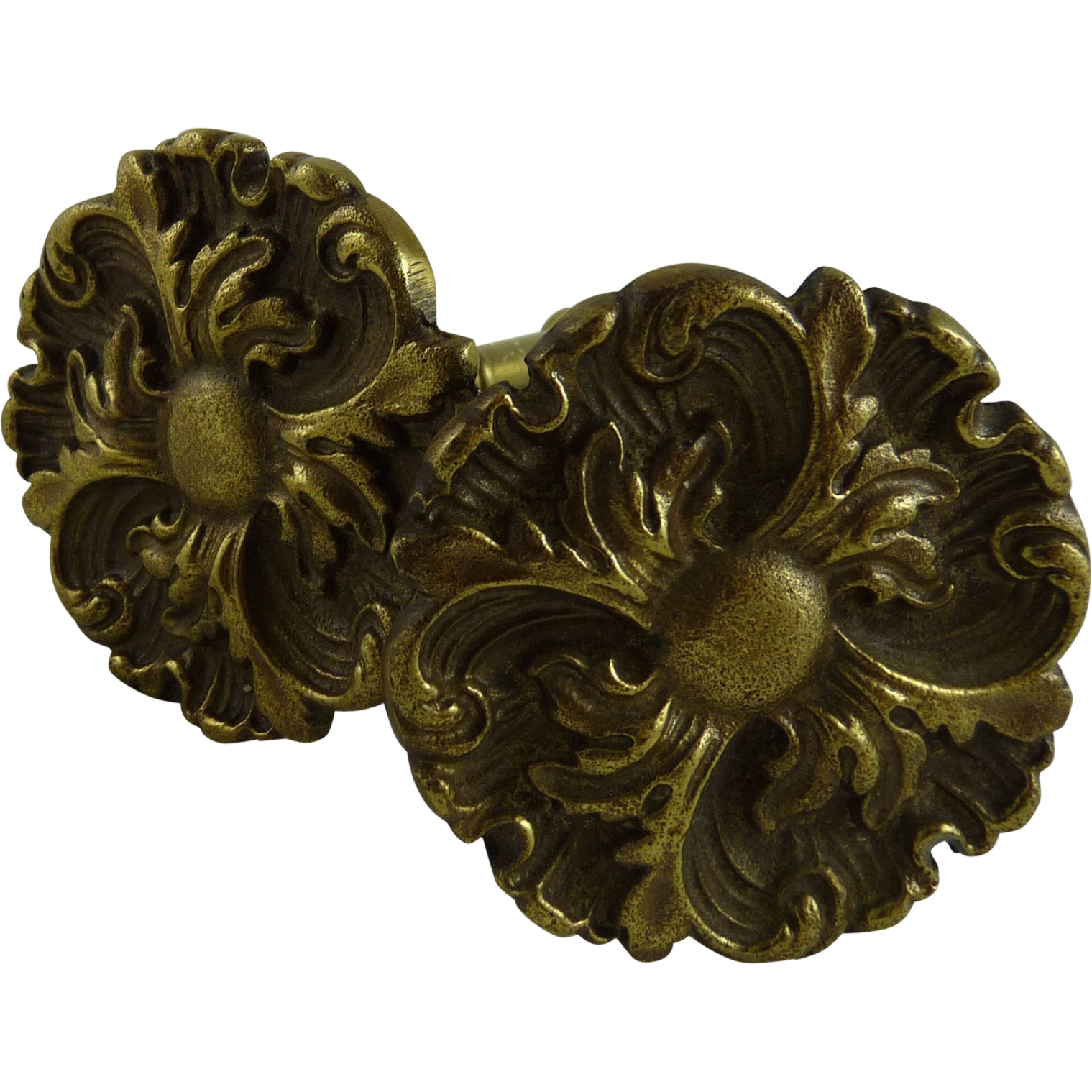 Antique Victorian Gilt Brass Curtain Tiebacks