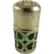 Sterling Overlay Smelling Salts or Perfume Bottle