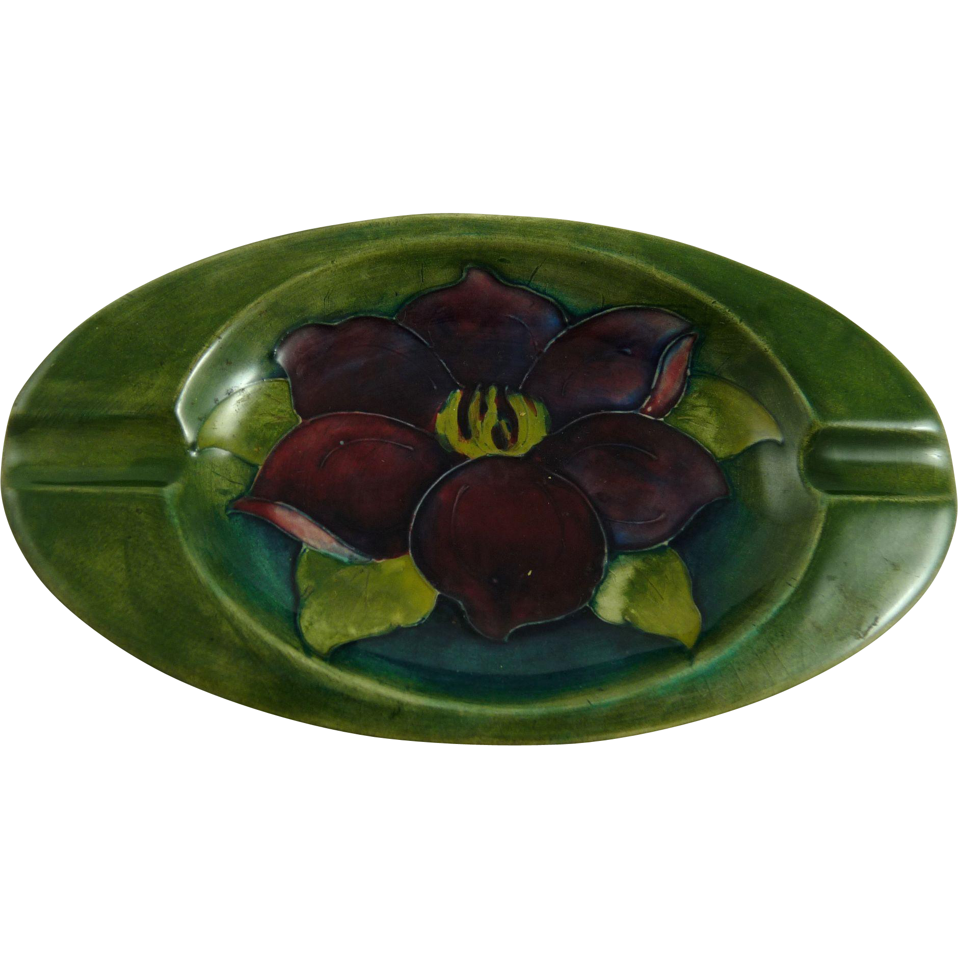 Vintage Moorcroft Clematis Ashtray