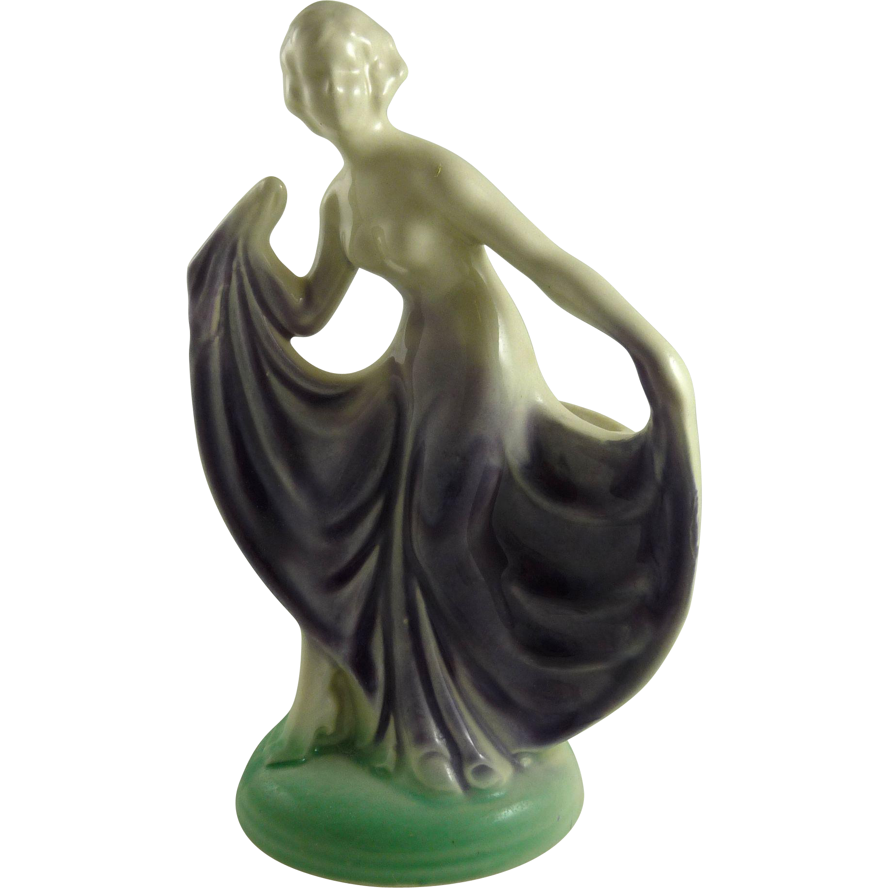 Vintage Art Deco Figural Vase Dancer