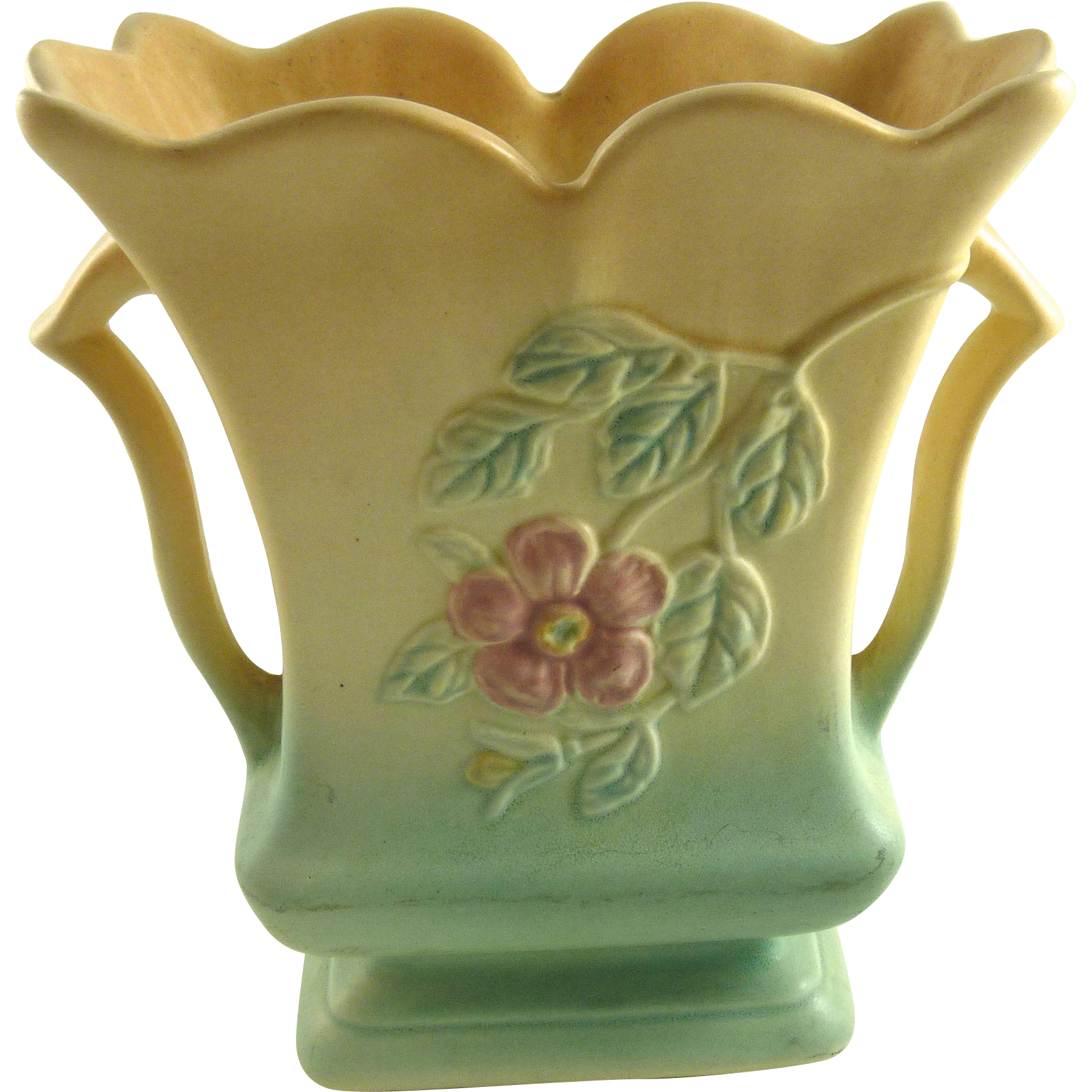 Vintage Hull Pottery Dogwood Vase