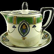 Vintage Art Deco Noritake Covered Creamer Syrup