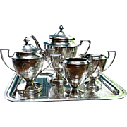 Antique Edwardian Silver Plate Tea Service 5 Piece