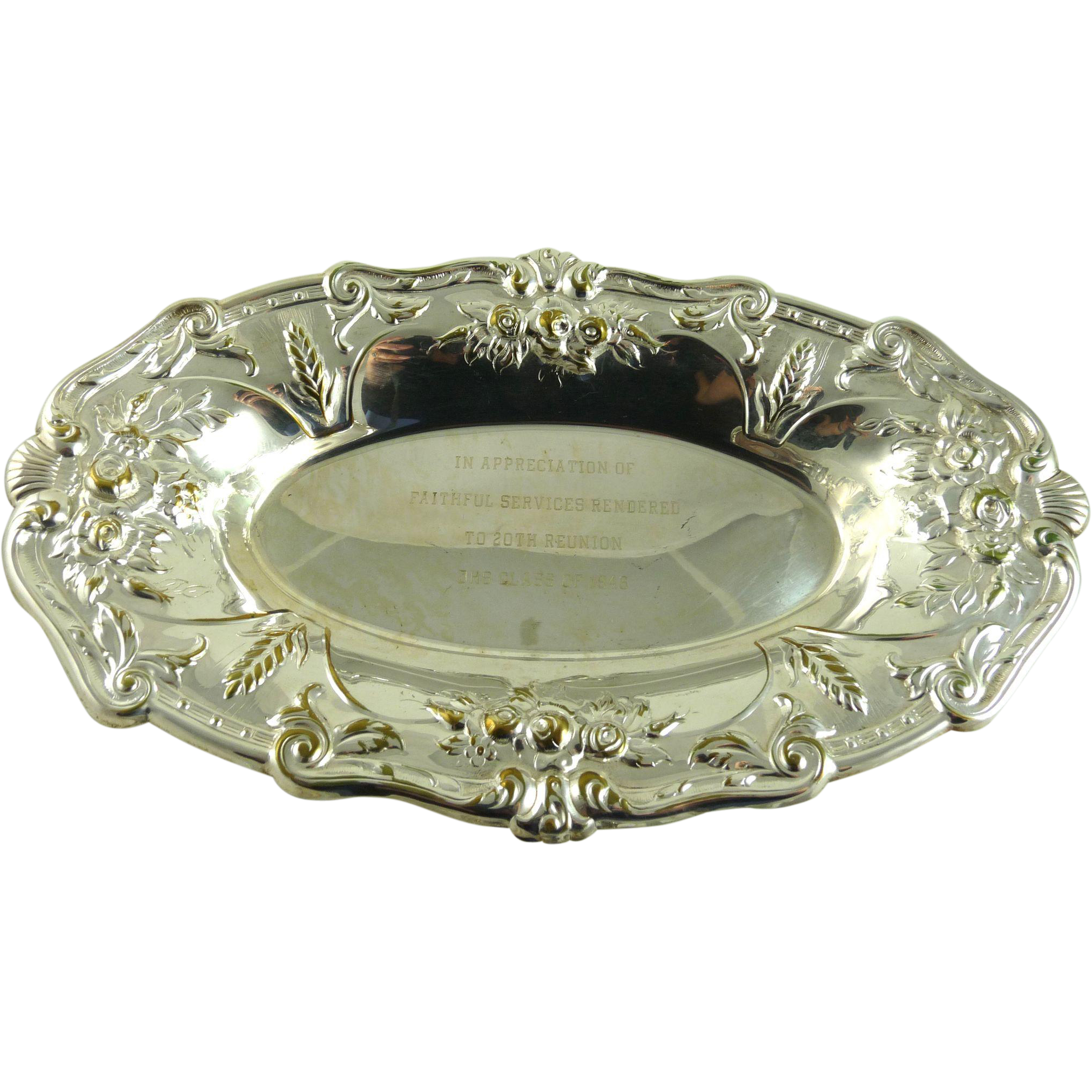 Vintage Silverplate Bread Tray