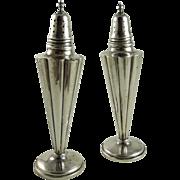 Vintage Art Deco Sterling Silver Salt and Pepper Shakers