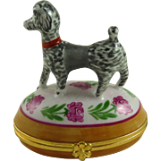 Vintage Limoges Porcelain Box with Poodle Dog