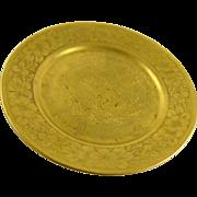 Vintage Gold Gilt Porcelain Plate C T Altwasser